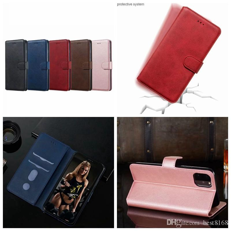 Classical carteira de couro PU capa para Iphone 11 Pro New 2019 XS MAX XR XS X 8 7 6 Slot para cartão ID Holder Suporte Rose Gold Bolsa de luxo