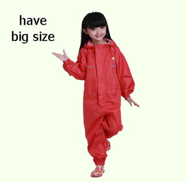 Imposta 80-160Cm Giacca a vento per i bambini dei capretti delle ragazze dei ragazzi impermeabile poncho pioggia Coat Pantaloni Capa de Chuva Bambino Chubasquero Mujer Xvcvy