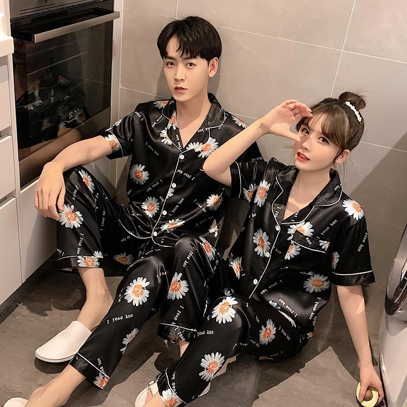 ibMJq 2020 coreana de dos piezas de pantalones par de pijamas en casa de ropa pantalones de traje ropa de verano ropa suelta de manga corta nuevo estilo
