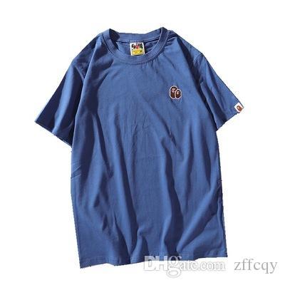 19SS concepteur Hommes T-shirts invaincus hors sport imprimé bain Apes t-shirt blanc en coton singe est chemises été guerre hommes tees