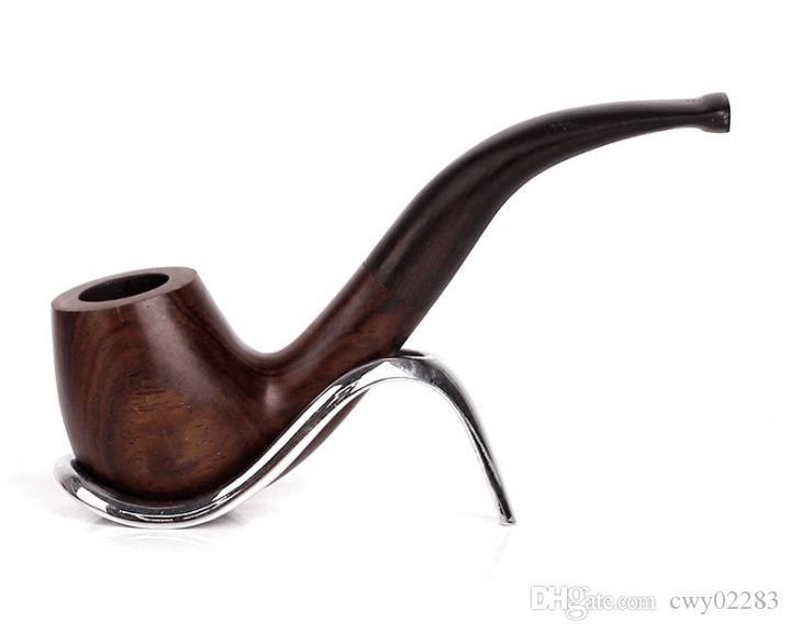 Yeni katı ahşap, ahşap bükülmüş tütün boru, abanoz, erkekler için abanoz taşınabilir çekiç