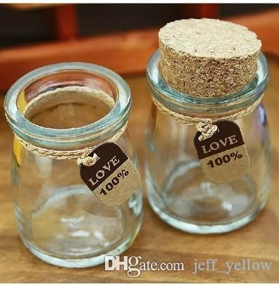 Livraison gratuite Star bouteille de pudding 10 100 ml en verre Liège Cork souhaitant bouteille filles dérivant bouteille DIY jouets