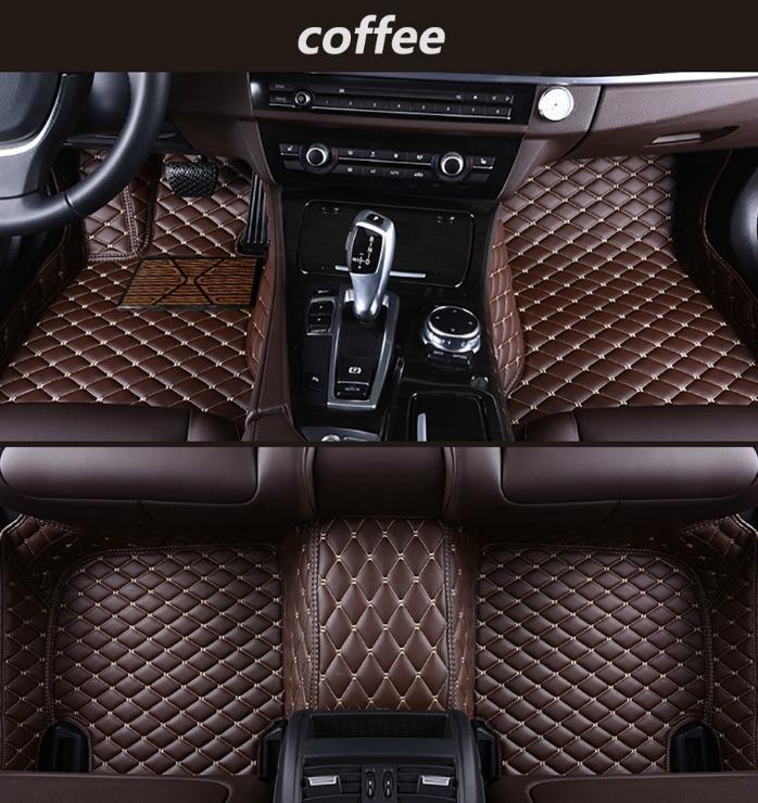 Aplicável a Kia Soul 2010-2017 tapete do carro de luxo cercado por couro impermeável mat costura tapete verde coberta