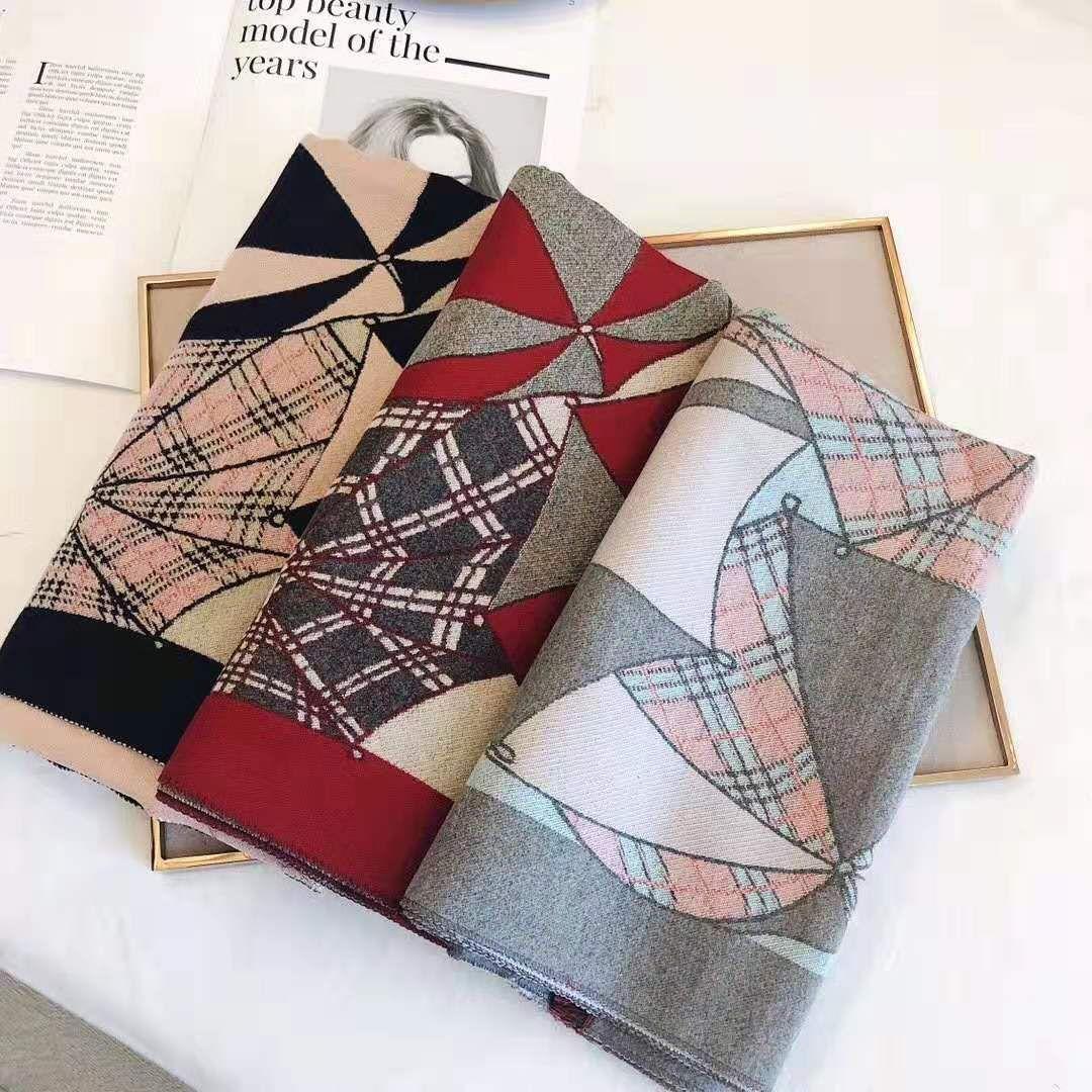 Новая зима 2019 шарф кашемир смешанные ткани мягкий и теплый двойной - двусторонний цвет тонкое мастерство сгущения и многоцелевой scarv