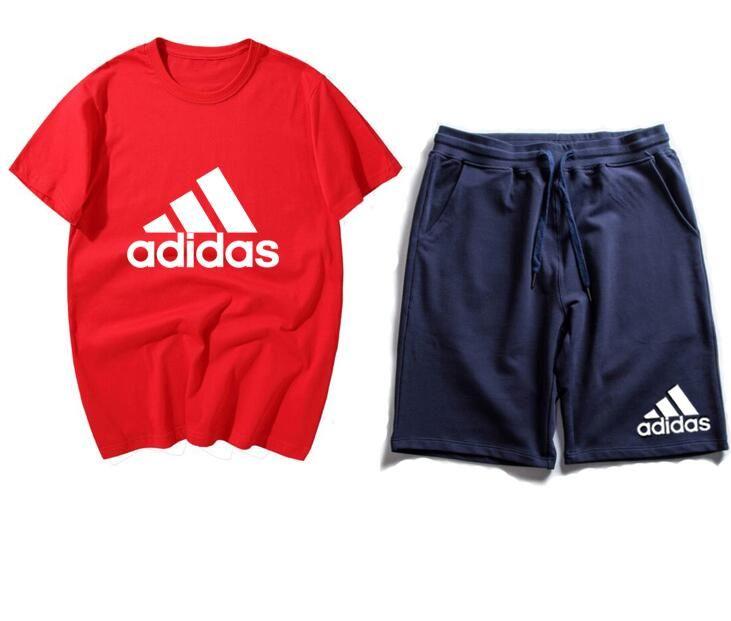 Nouveau Mode femmes hommes Casual t-shirts Survêtements deux pièces shorts manches courtes quelques costume de sport unisexe T-shirt et pantalon court # 42512