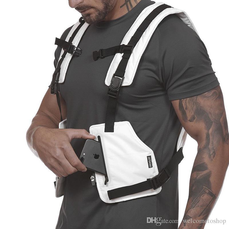 Hombres de entrenamiento deportivo al aire libre Ciclismo Camisetas sin mangas Active Chalecos tácticos multifuncionales resistentes al desgaste Jersey protector para niños