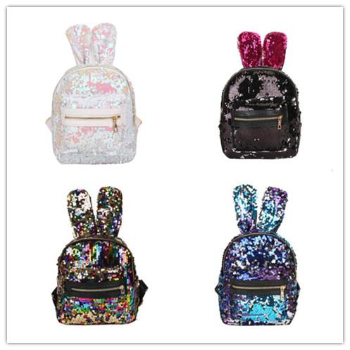 Baby Girls School Cartoon Bag Shoulder Kids Student Rabbit PU Mini Backpack UK