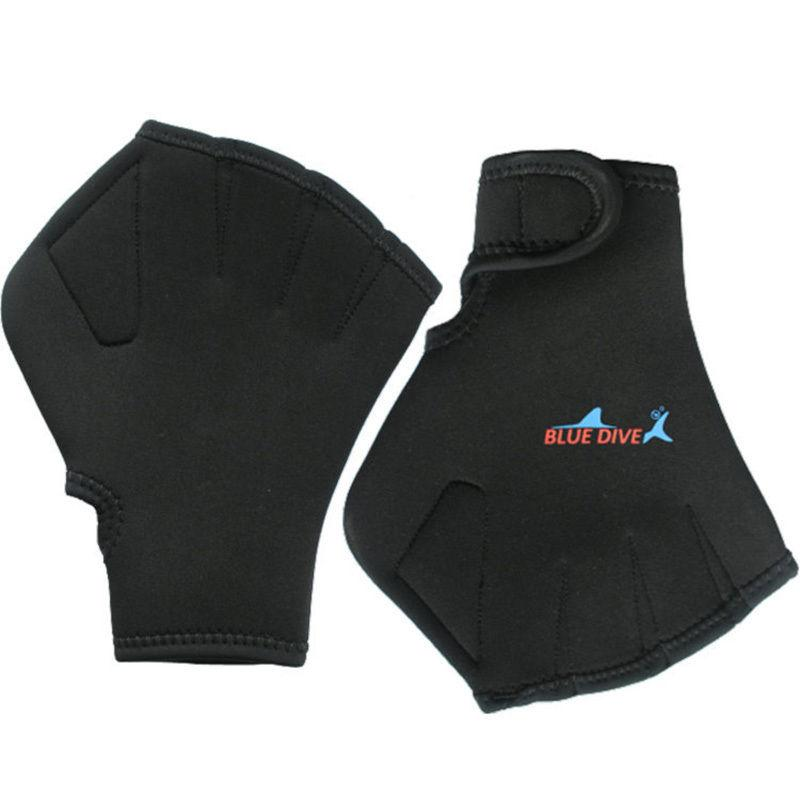 Diving Swimming Surfing Webbed Gloves Surfing Paddle Hand Training S Black