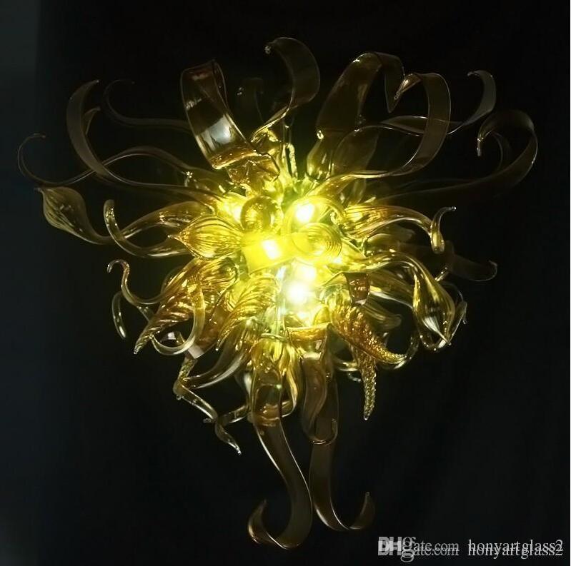 100% soffiato borosilicato home lampade Tipo Contemporaneo Vetro Trasparente Lampadario a mano in vetro soffiato Art lampadario luce