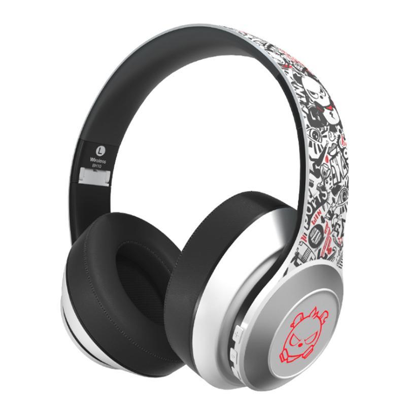 2020 Angry Bear Led Lighting Bluetooth 5 0 Headphones Wireless Super Bass Graffiti Foldable Headset With Hd Microphone Cute Earphone Marshall Headphones Wireless Bluetooth Headphones From Hoyotrade 16 99 Dhgate Com