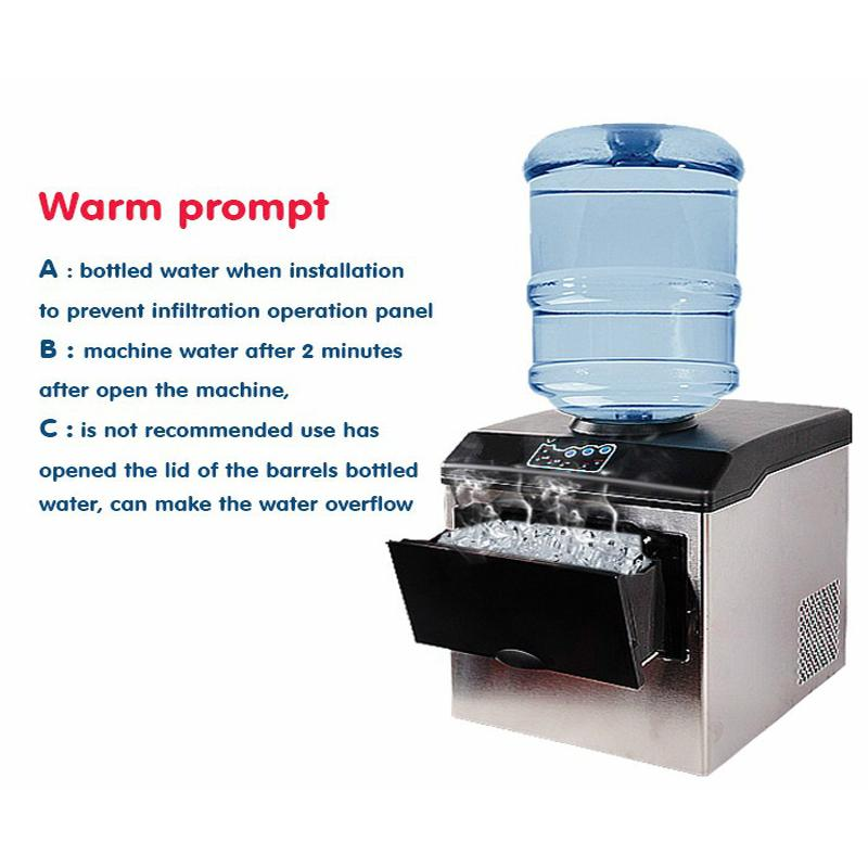 Electric automatic ice making machine 25kgs / 24H bullet wheel ice making machine cold water dispenser water dispenser