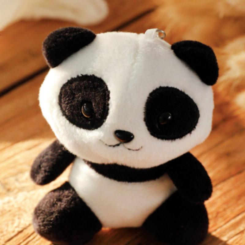 10cm New Lovers Panda Plush Toys Stuffed Panda Animal Toys Dolls Bag Keychain Wedding Gift