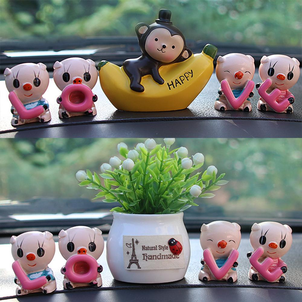 Simulation Plant Artificial Flower Fruit LOVE Pig Dolls Car Ornaments for Auto products Car Accessories Interior Home Decoration