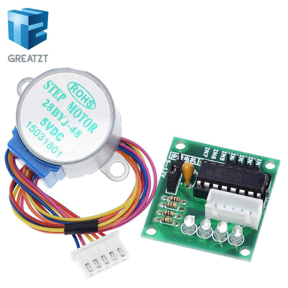 Circuits INTEGRE GREATZT 1LOTS 28BYJ-48-5V 4 phases Stepper Motor Board + pilote ULN2003 pour Arduino 1 x Moteur pas à pas + 1x ULN2003 Drive ...