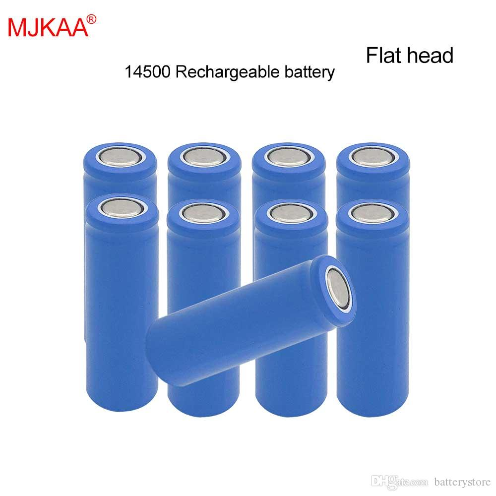 50 PCS السعر مصنع MJKAA 100٪ اصلية 1200mAh بطارية ليثيوم ايون 14500 3.7V AA حجم بطارية قابلة للشحن للموبايل الطاقة مصباح رئيس شقة