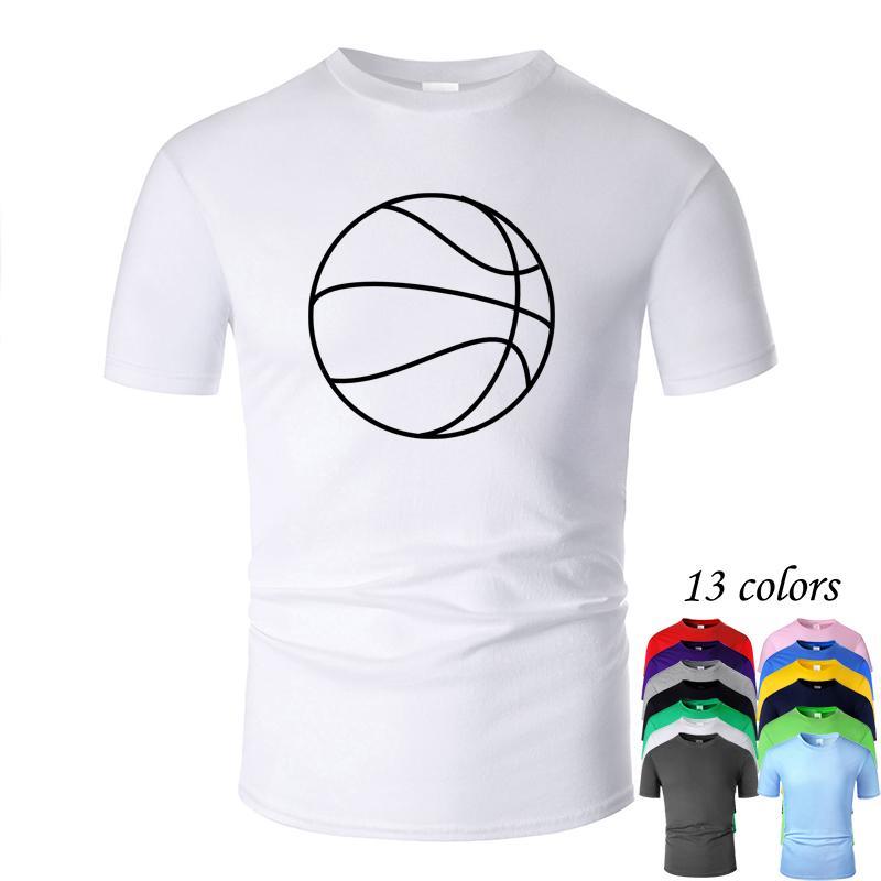 Mais quente e mais distintiva Linha Basketball Art O Neck Algodão Camiseta Homens e mulher Unisex Summer manga curta Projetado m02008 Casual Tee