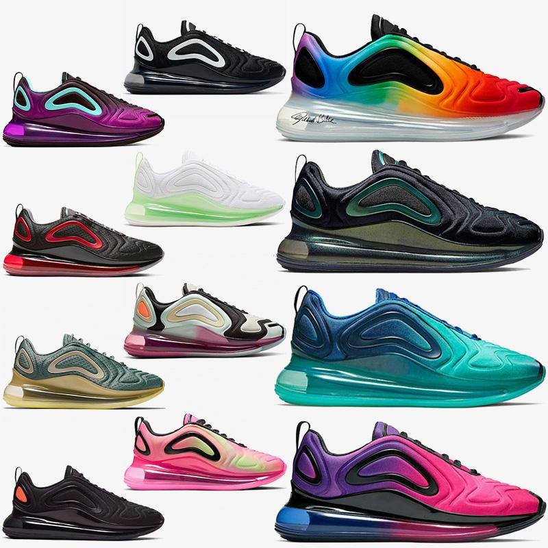 nike air max 720 airmax 720s maxes Zapatillas Free Run Cojín para correr Zapato triple s Blanco Negro Moda Hombre Zapatillas deportivas Diseñador de marca de lujo