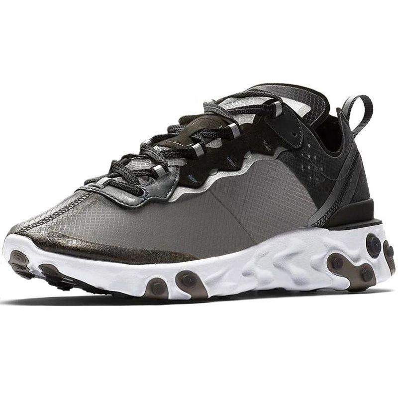 UNDERCOVER x Upcoming Reagir Elemento 87 cartões Branco Sneakers Homens Mulheres instrutor Homens Mulheres Running Shoes Zapatos 2018 Novo
