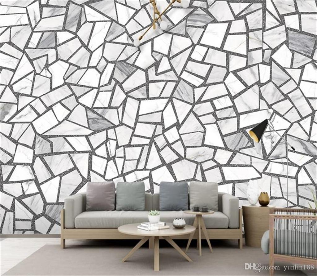 Carreaux De Ciment Mural acheter 2019 new american vintage wallpaper nordic simple ciment brique  carreau de céramique terrazzo carreaux de sol décoration murale papier  peint
