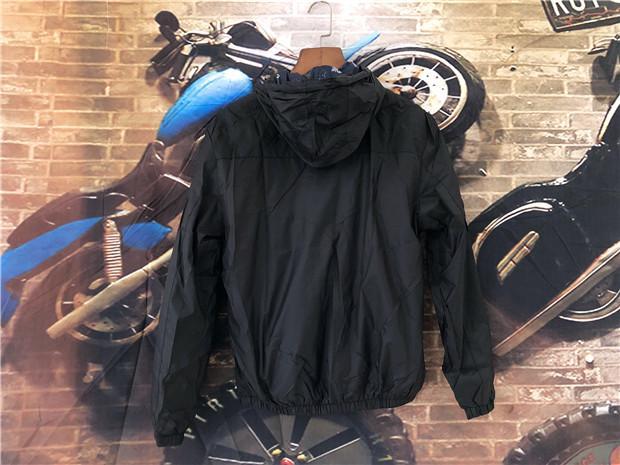 Marca di alta qualità manica lunga nuovo designer moda uomo sciolto giacca a vento e colori naturali per la moda casual con taglia M-4XL B100129Q