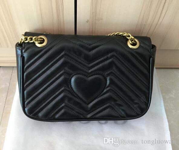 5A Top qualidade Clássico Couro crossbody bag ouro corrente de prata venda quente novas mulheres marmont sacos bolsas sacos de ombro tote mensageiro SACOS