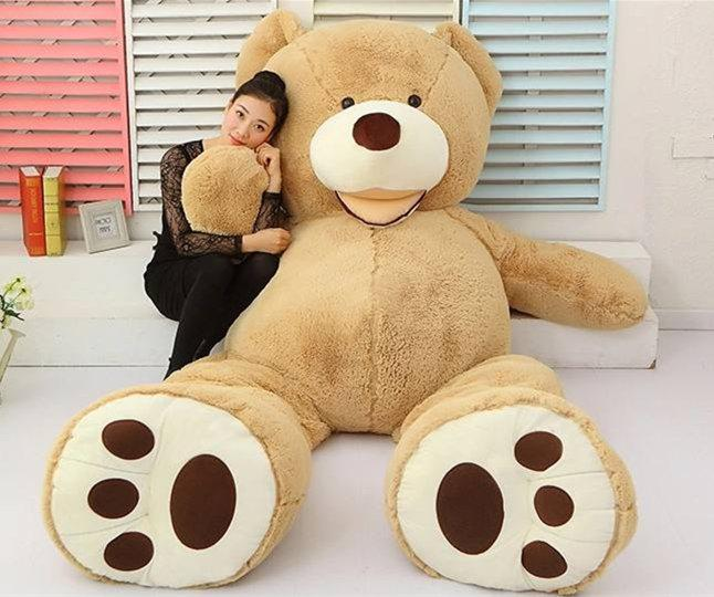 [ TOP ] 200cm Huge big America bear Stuffed animal teddy bear cover plush soft doll pillow cover ( without stuff ) baby toys