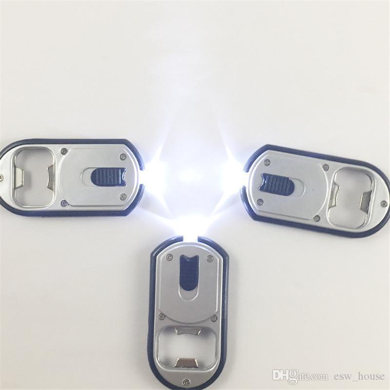 Flashlight Bottle Opener 3 in 1 LED Flashlight Torch Keychain With Beer Bottle Opener Key Ring Chain Beer Bottle Opener 3*6.5cm