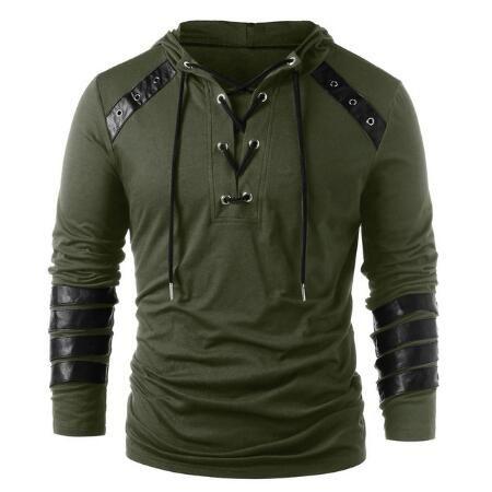 Men Sports Casual Wear Patchwork Fashion Tide Jacquard Hoodies Fleece Jacket Fall Sweatshirts Autumn Coat Hooded With M-XXL