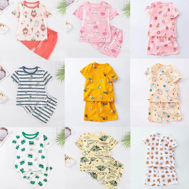 Baby Unisex Cotton Summer Children Soft Shorts Suit t-shirt Todder Boy and Girl Dinosaur Cartoon Clothes Cheap Stuff Baby Sets
