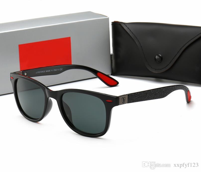 Marca original com o logotipo design óculos de sol clássico metade das mulheres dos homens óculos de sol revestimento espelho bain sunglass oculos de sol caixa w112