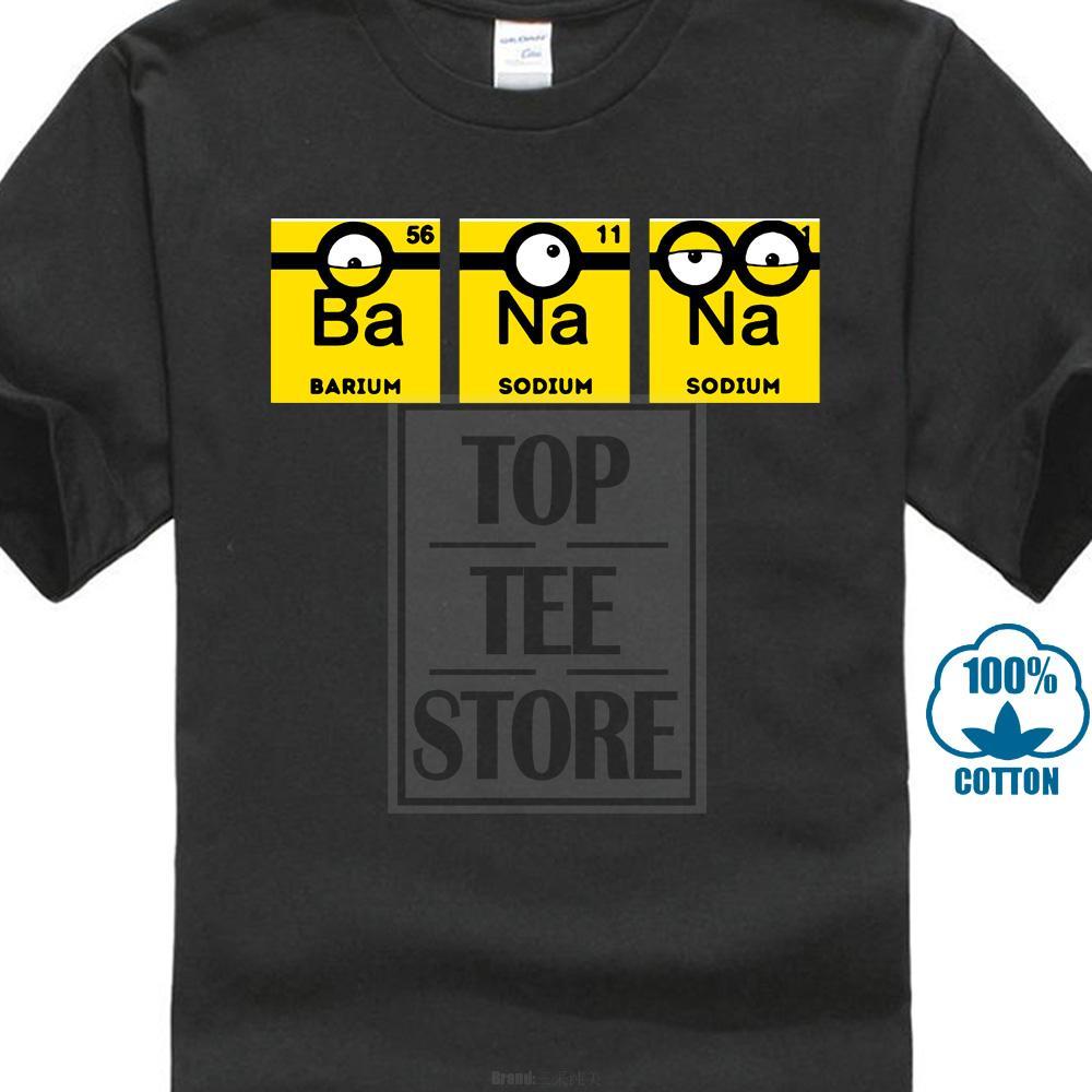 Yaz T Gömlek Erkekler Benzersiz Kısa Kollu Karikatür Sarı Muz Periyodik Tablo T Shirt Toptan Indirim Toptan Indirim