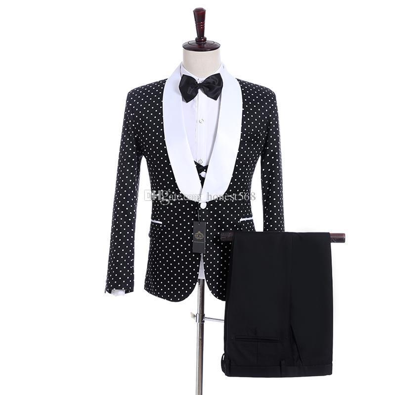 Красивый платок, отворот, жених, мужская одежда, смокинги на пуговицах, свадебные / выпускные / ужины, блейзер (куртка + брюки + галстук + жилет) 069