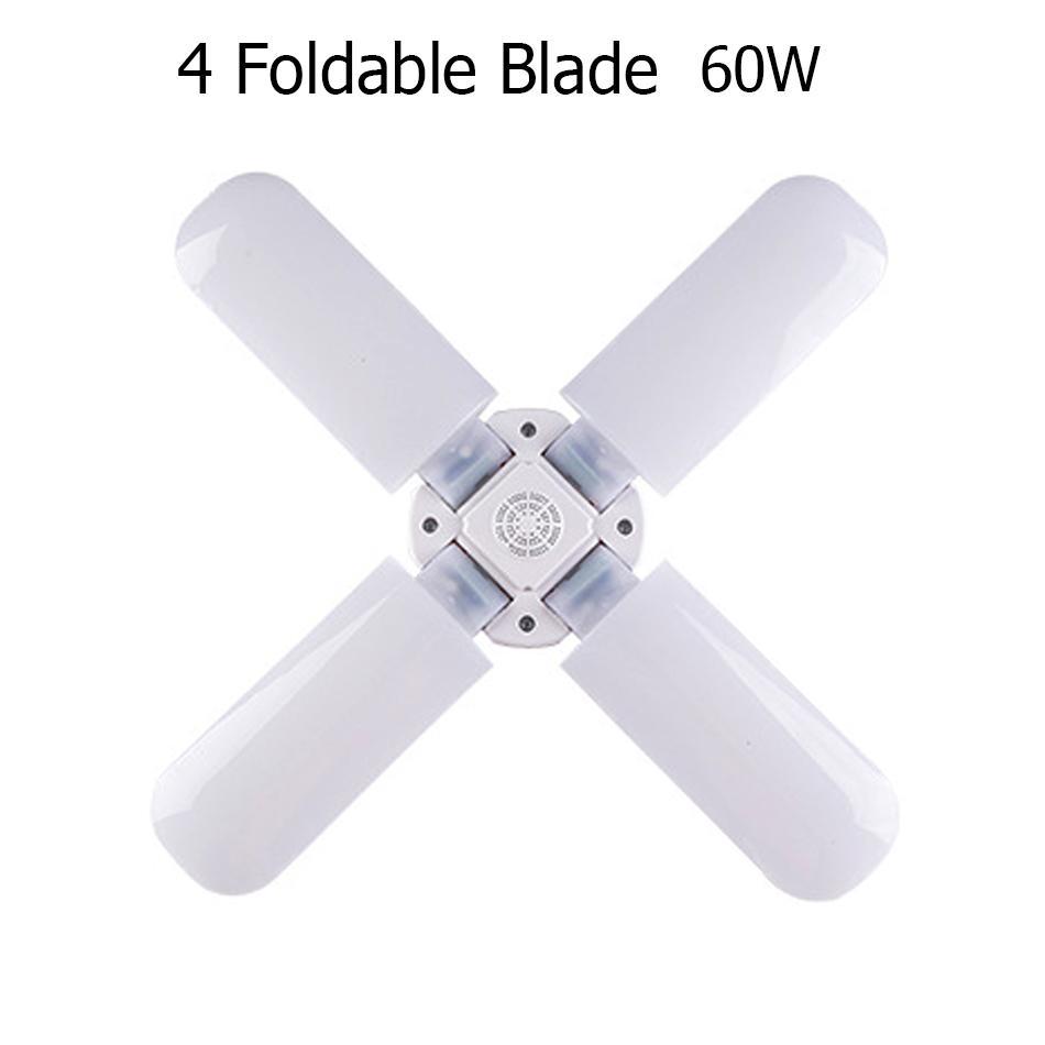 60W E27 E26 LED Bulb 96-265V Super Bright Foldable Fan Blade Angle Adjustable Ceiling Lamp Home Energy Saving Lights LED Lamp