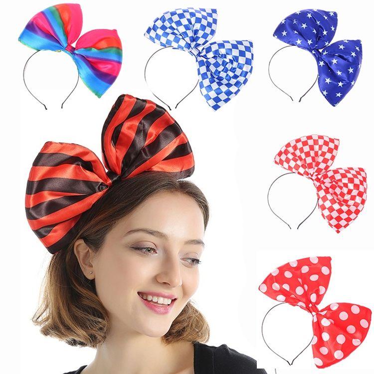 7 stili Bandiera nazionale tessuto arco Hair Sticks forcine banda capelli banda reticolo Ragazze Turbante avvolgere la testa Regali accessori per capelli JJ542