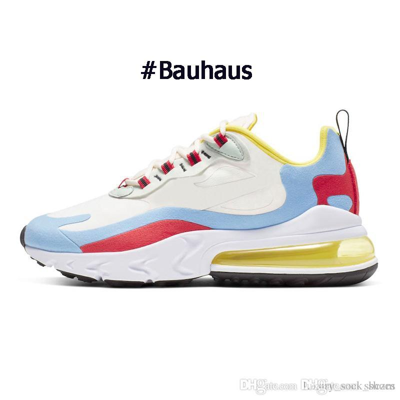 2019 nike air max 270 react hombres zapatillas blancas penta color amarillo rojo triple negro moda para hombre entrenadores zapatillas deportivas