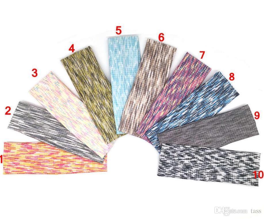 10 colors Absorbent Sport Sweat Headband Sweatband For Men Women Yoga Hair Bands Head Sweat Bands Sports Safety 500Pcs