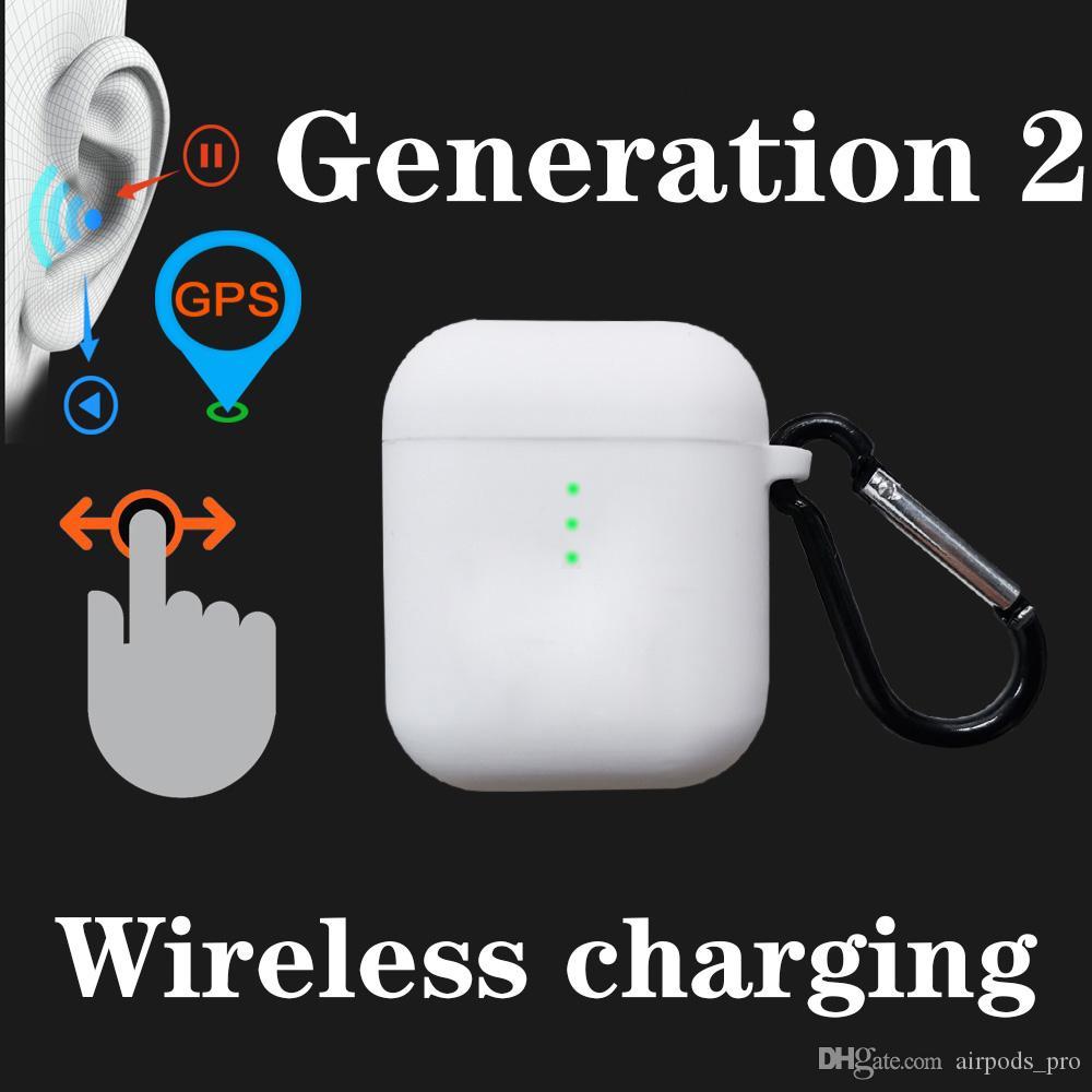 Бесплатная доставка беспроводной зарядки Bluetooth гарнитура In-Ear Обнаружение Earbud наушников касания CVBF