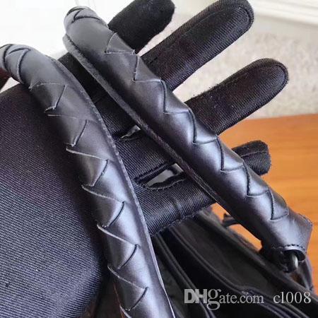 Perfecta calidad Totes Reales Femenino Top Volumen Bolsas Casuales Tejido Suave 30 cm Hardware Bolsos de cuero grande HASP LHQJN