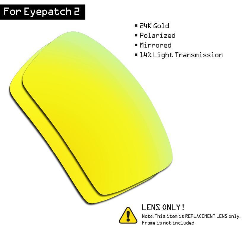 SmartVLT gafas de sol polarizadas las lentes de repuesto para Parche 2 - 24K Gold