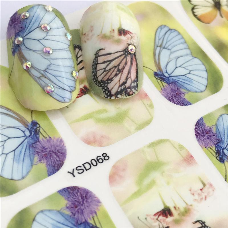 Flower Butterfly Ornament wall sticker new design F55 bedroom vinyl decal