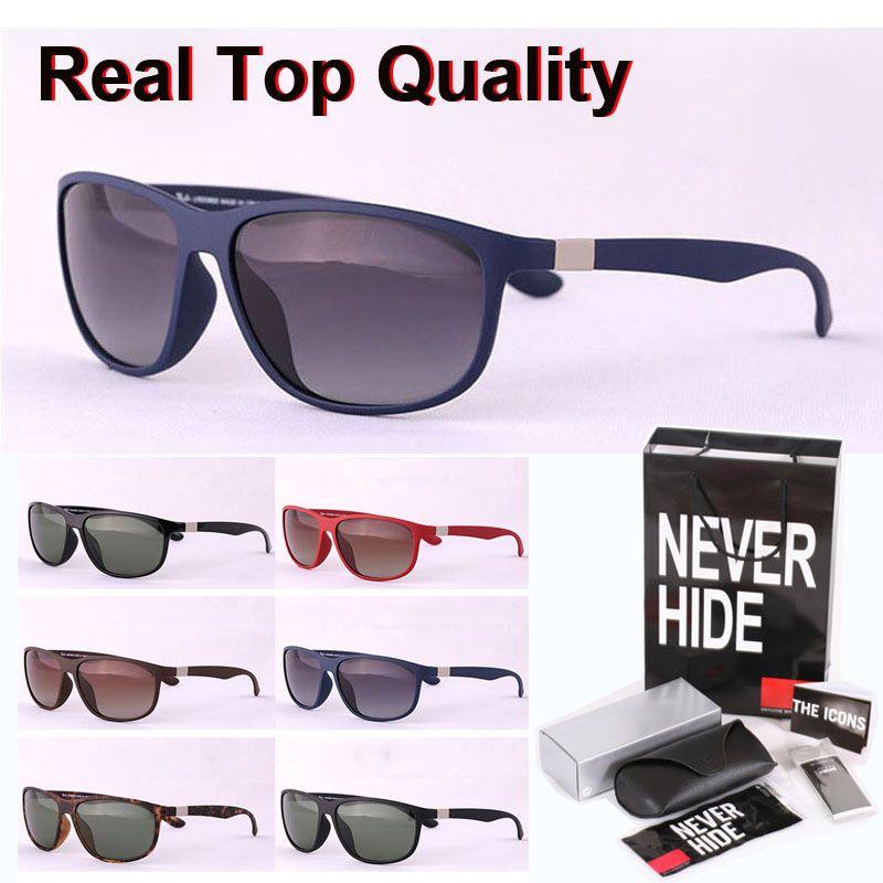 De calidad superior (lente polarizada) Marca gafas de sol de los hombres de las mujeres de la vendimia Sport gafas de sol con la caja original, paquetes, accesorios, todo!