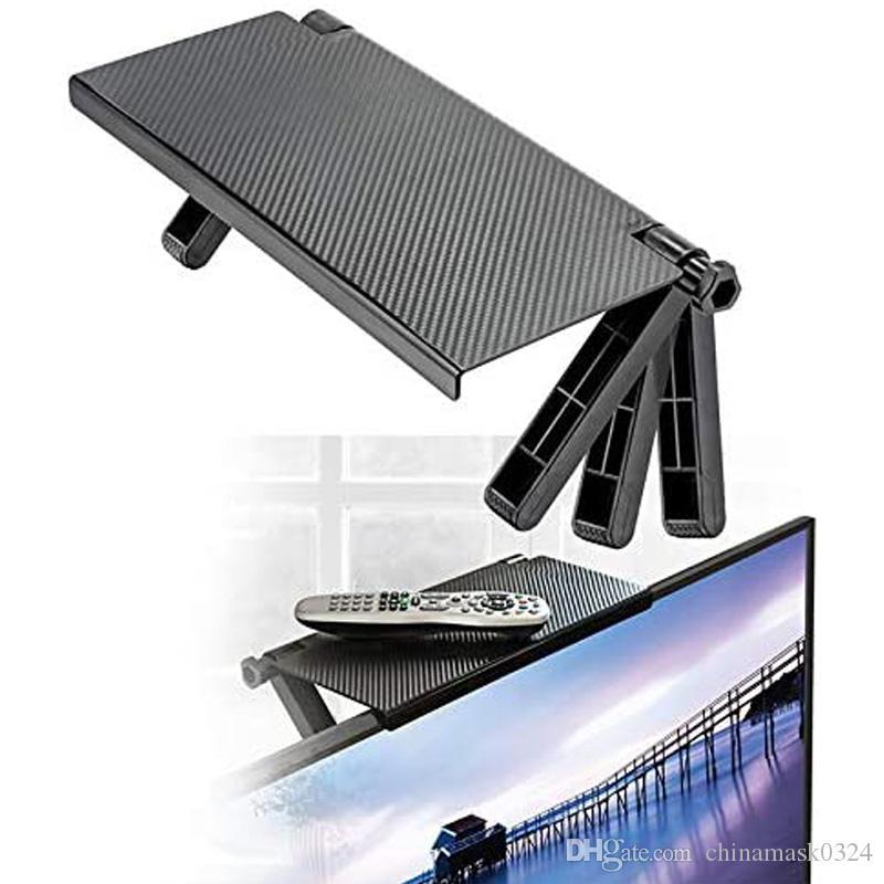 شاشة العلبة أعلى الجرف شاشة الحاسوب الناهض سطح المكتب حامل TV الرف الجرف العرض الرئيسية أداة التخزين ديكور