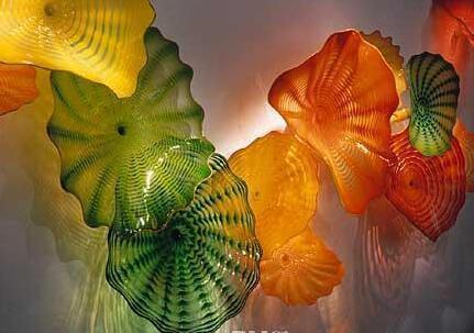 Новые Trending Murano Стеклянные пластины цветок стены искусства для украшения Home Hotel Элегантные Красочные Murano Стеклянные висячие Тарелки Wall Art