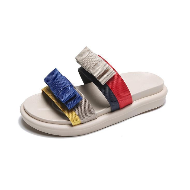 Mulheres Chinelos Flip Flops Shoes Slides Chinelos Mulheres Verão Flats Feminino Moda Casual marca de luxo Shoes Designers Chinelos S43