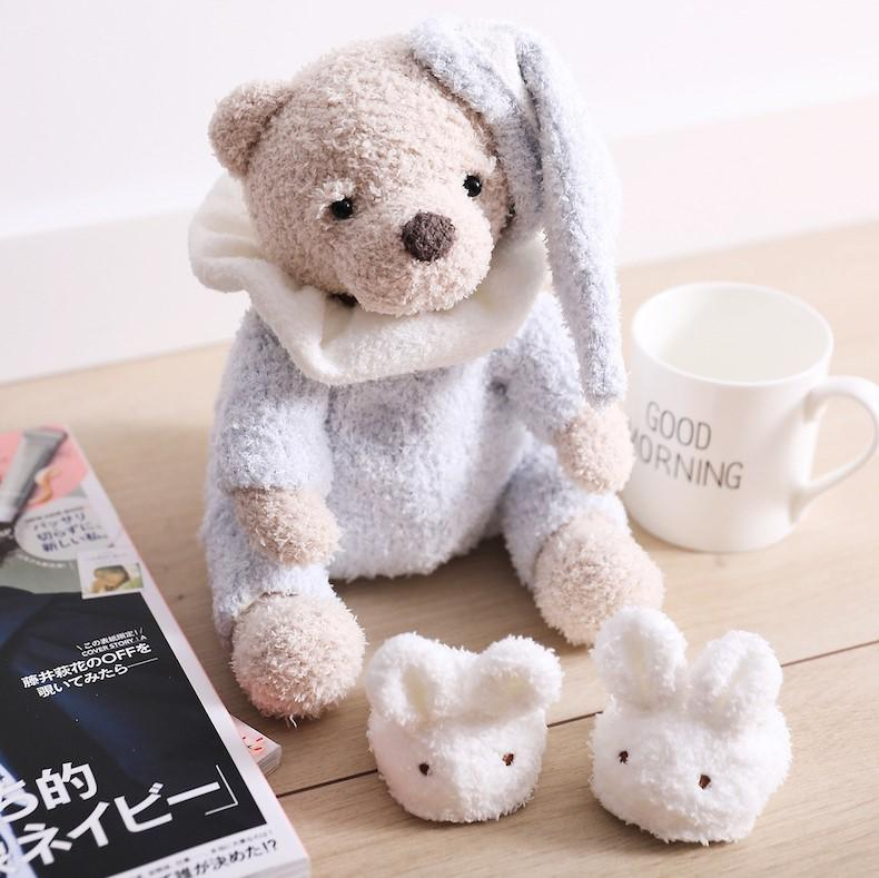 Милая пижама медведь мягкая игрушка ребенок спит с успокаивающим плюшевым животным кукла мультфильм маленький плюшевый мишка подушка девушка подарок на день рождения