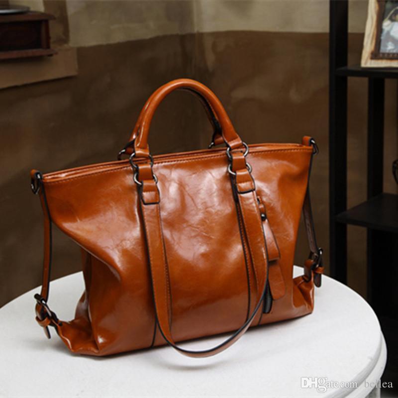 Luxus 2019 Retro Umhängetaschen Handtaschen Große Kapazität Totes Für Damen Marke Taschen 6 Farben Freies Verschiffen