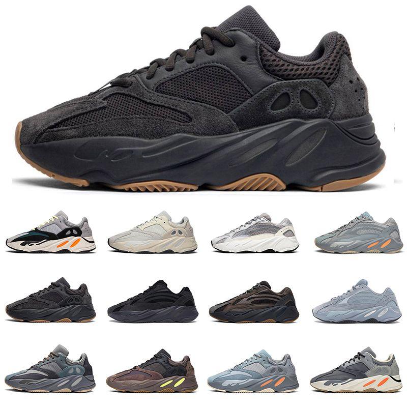 Hot vente hommes femmes 700 chaussures de course Azaël Alva Utilitaire coureur de vague hôpital noir Vanta bleu hommes de kanye formateur baskets de sport de mode