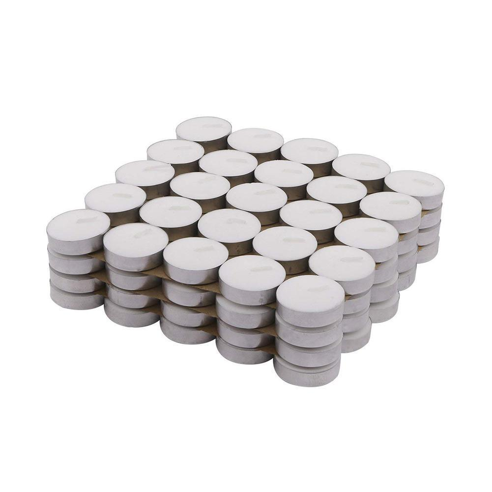 TPFOCUS 100Pcs romantique ronde Smokeless lumignons pour la décoration Photophore Bougies ronde Y200531