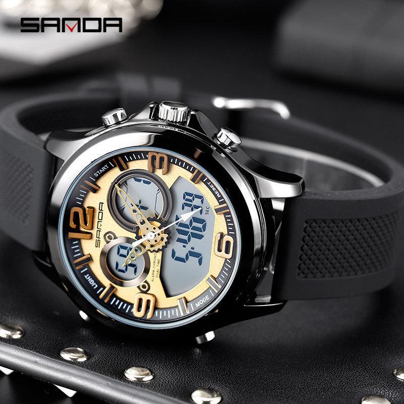 SANDA uomo Orologi da uomo Orologi sportivi Top Casual High-End strumenti orologio naviforce sportive multifunzione da polso