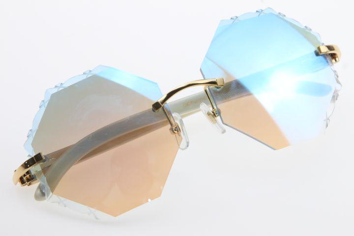 2020 도매 판매 화이트 정품 경적 버팔로 호른 선글라스 패션 고품질 브랜드 4189706 Sun은 남성과 여성의 안경